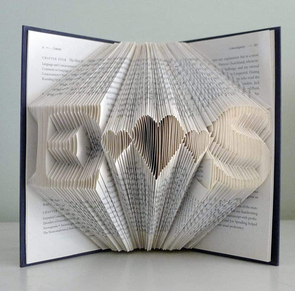 Customized Folded Book Sculpture - 1 year anniversary gifts for girlfriend