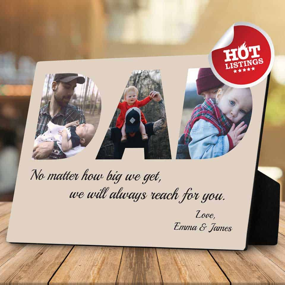 personalized fathers day gifts - Desktop Photo Plaque