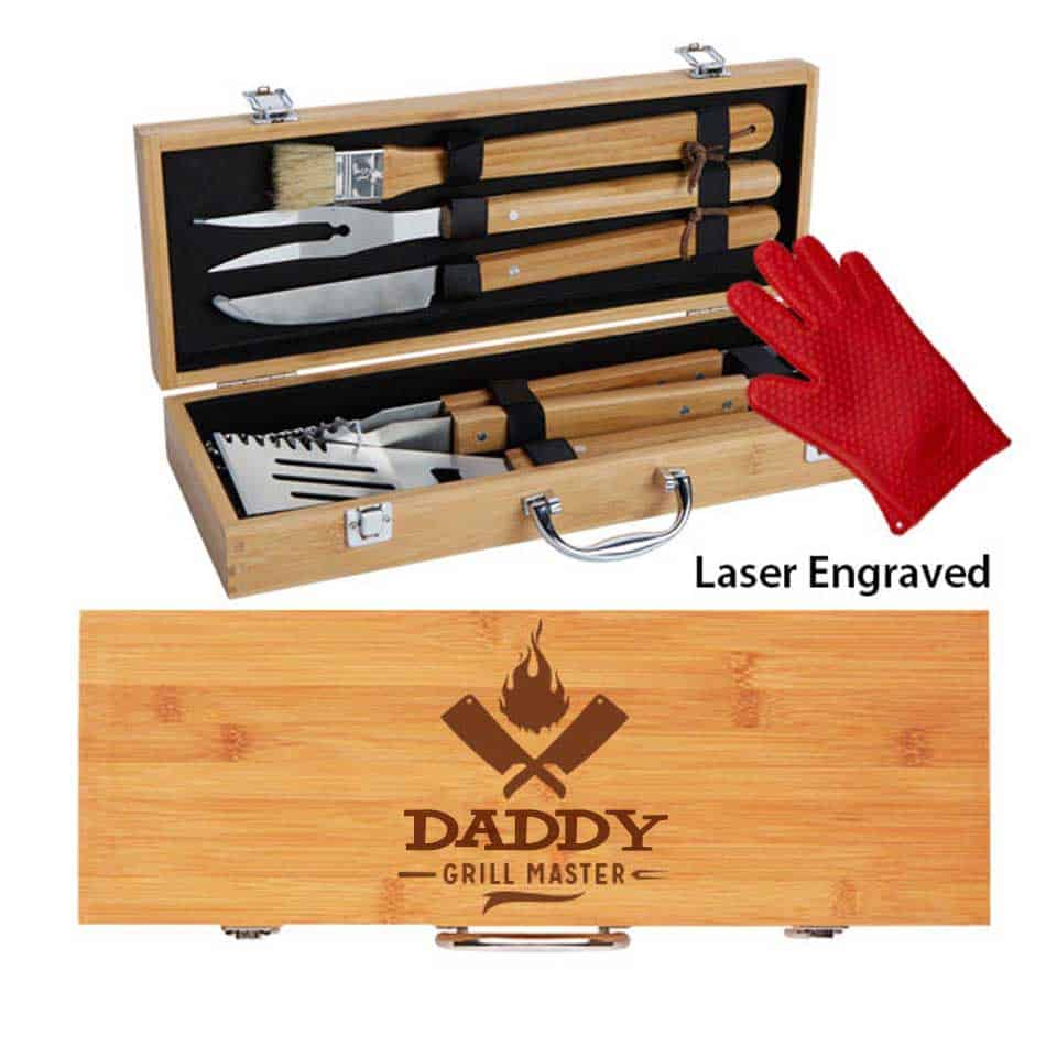 Engraved Grilling Tool Set