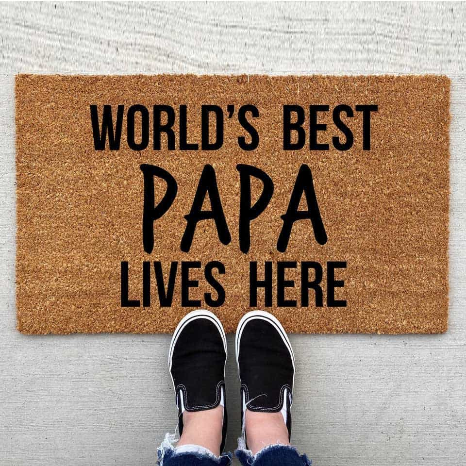 Father's Day Doormat
