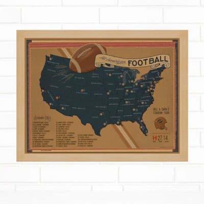Football Stadium Travel Map