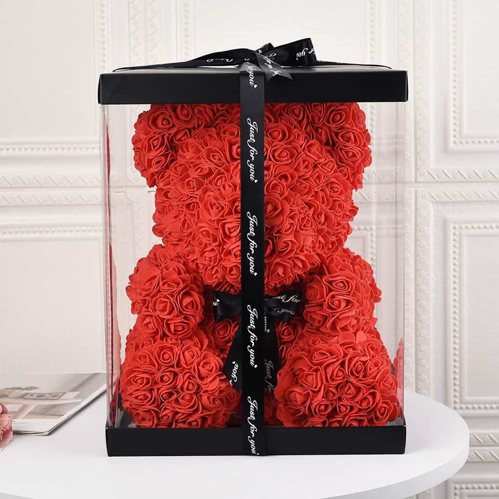 Handmade Rose Teddy Bear