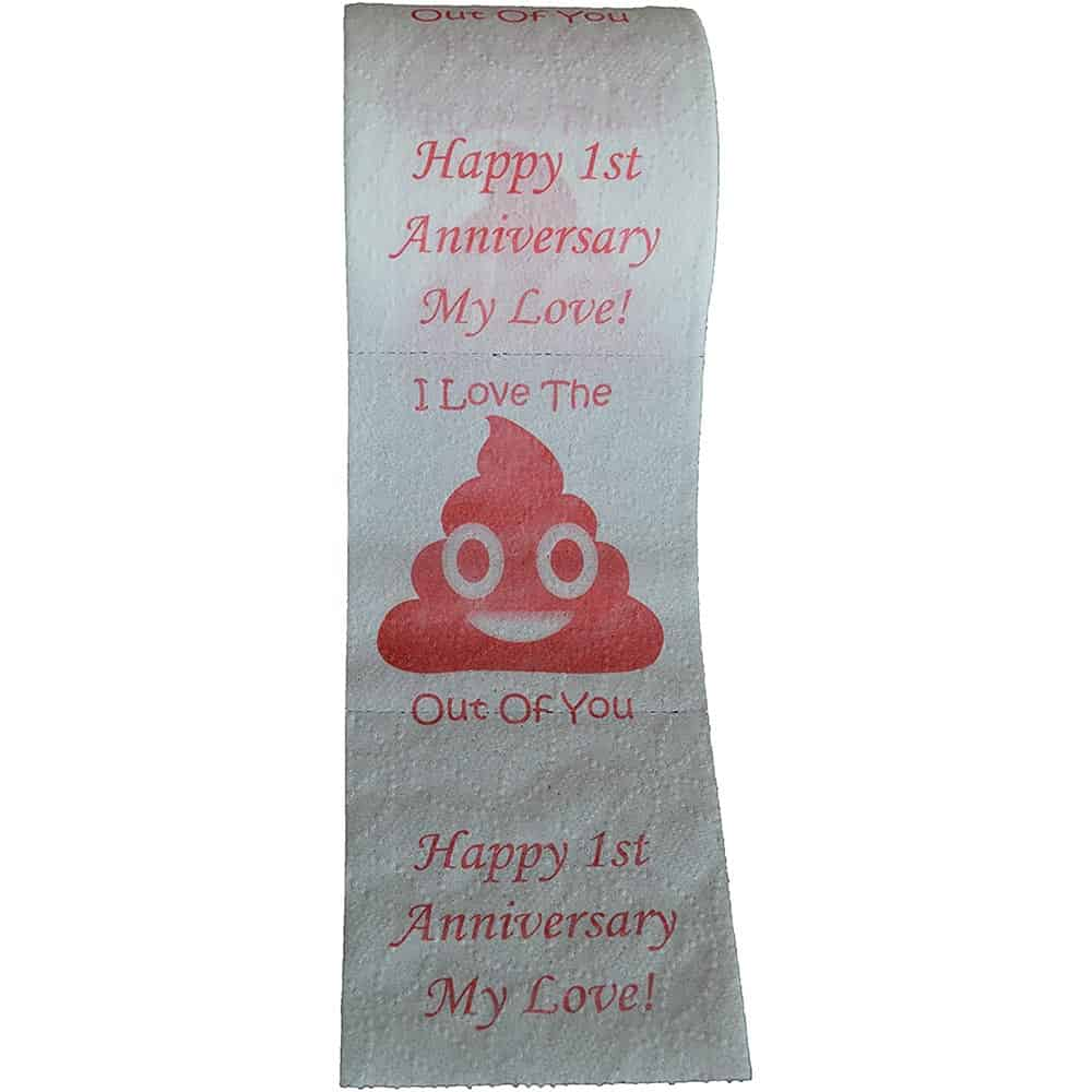 Happy 1st Anniversary Toilet Paper