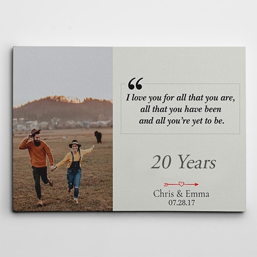 I Love You For All That You Are Custom Photo Canvas