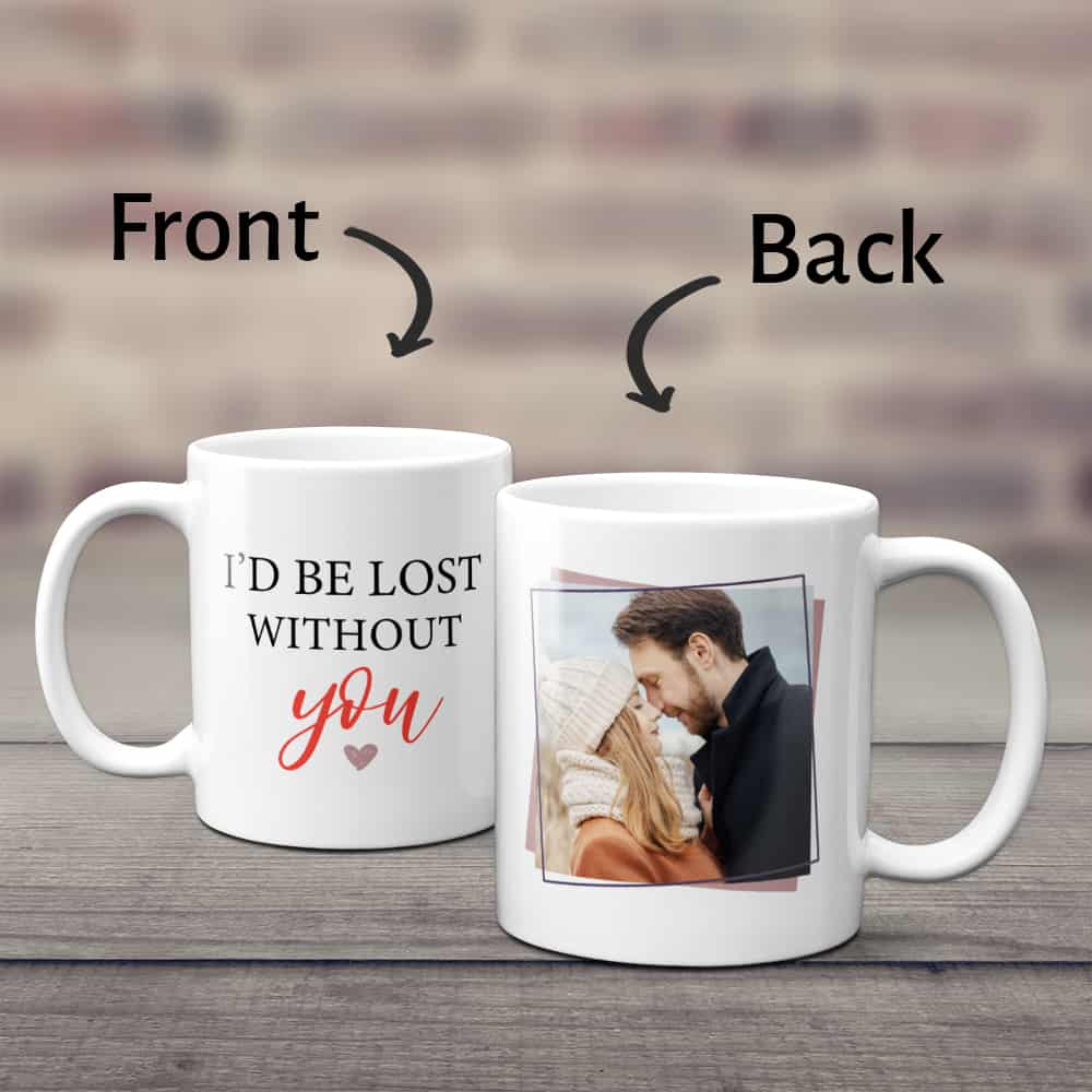 anniversary gifts idea for husband: custom photo mug