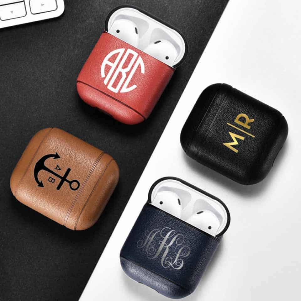 Monogrammed Airpod Case