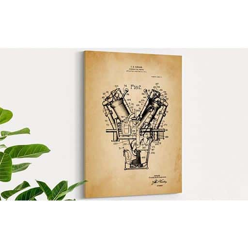 Patent Prints Canvas engineers gifts