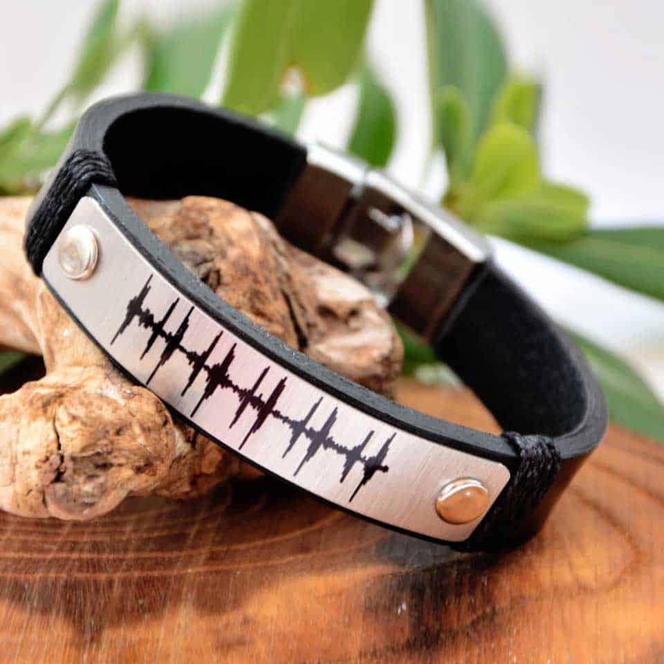 Personalized Sound Wave Bracelet
