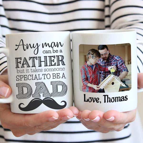 Special Dad Photo Mug - ideas for cheap fathers day gifts