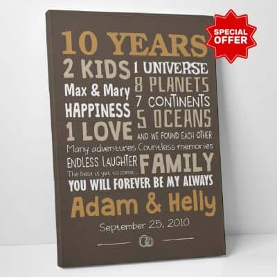 wife anniversary gifts: Time Spent Together Canvas