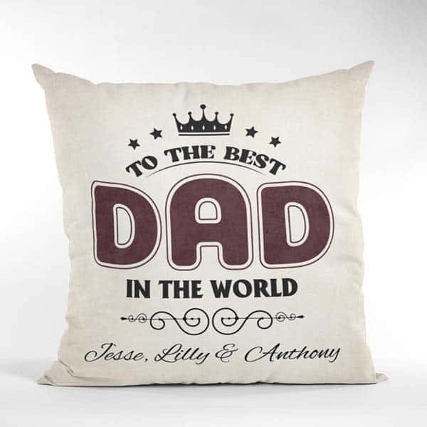 To the best dad pillow