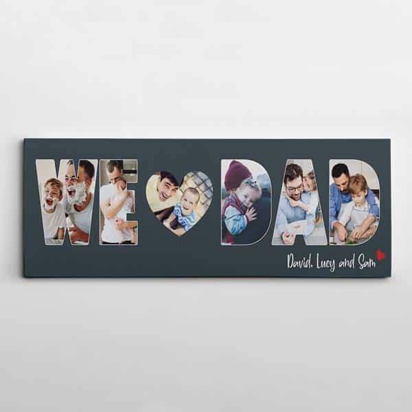 we love dad photo canvas print