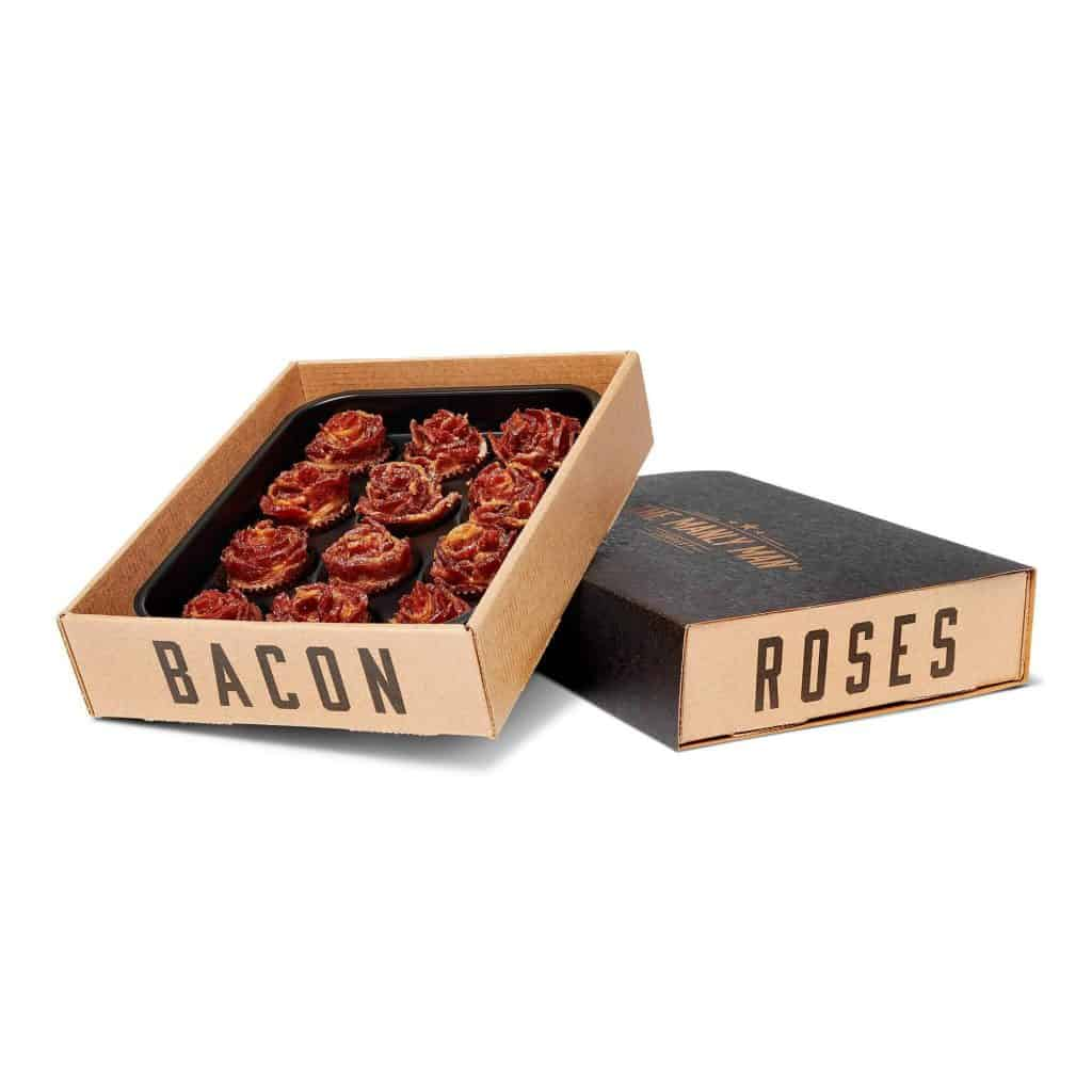 unique anniversary gifts for men: bacon roses