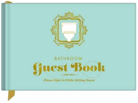 fun housewarming gift ideas: bathroom guest book
