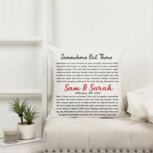 Personalized Song Lyrics Suede Pillow