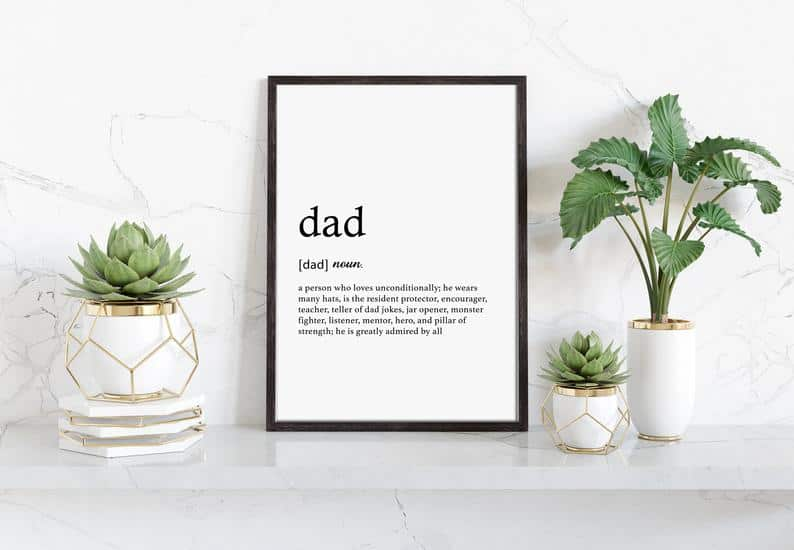 funny fathers day presents: dad definition print