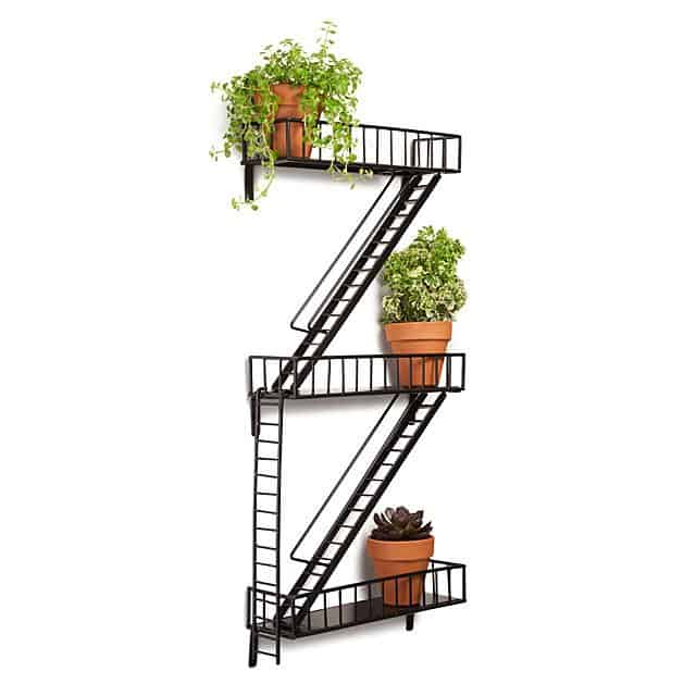 new house or apartment gift: fire escape shelf