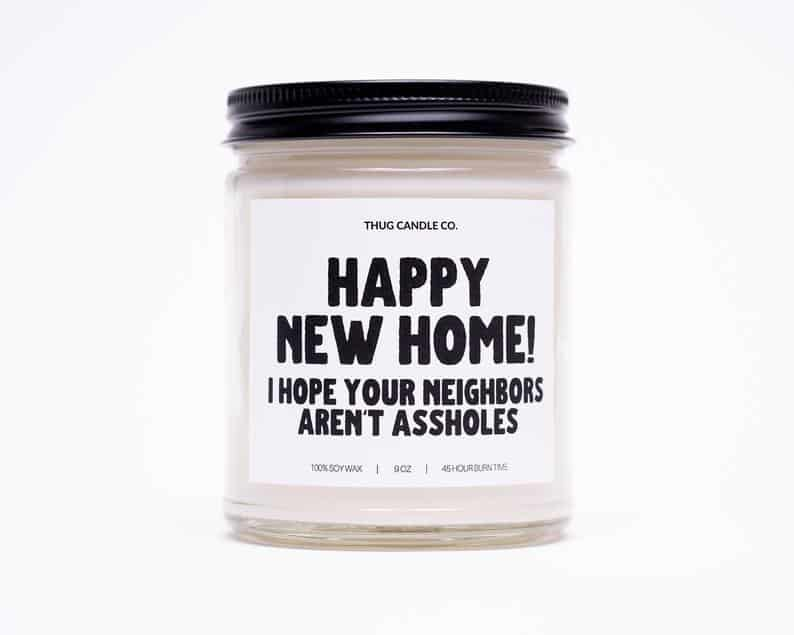 happy new home scented candle