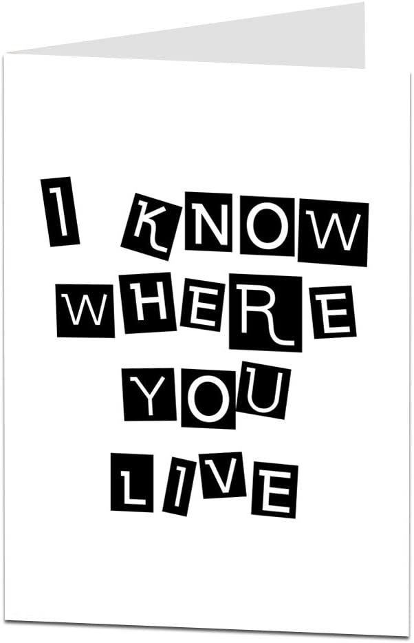 i know where you live funny housewarming card
