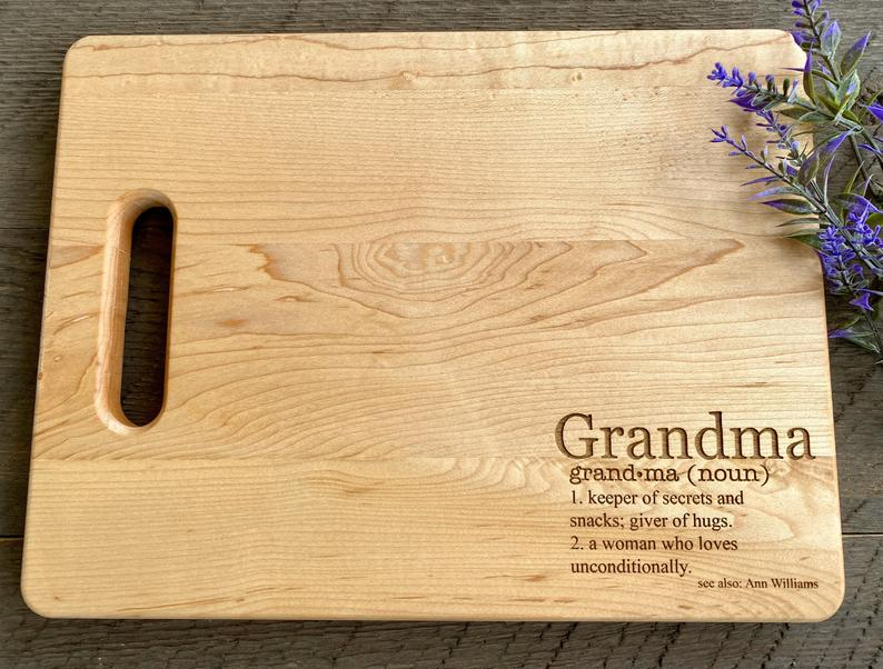 new grandmother gift ideas: grandma definition cutting board
