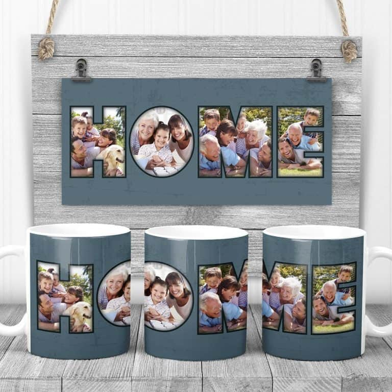 HOME Custom Photo Coffee Mug – 4 photos