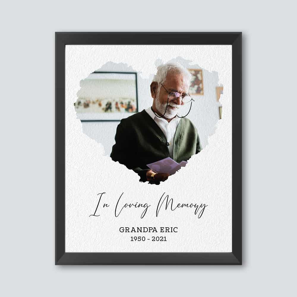 In Loving Memory Custom Photo Print - memorial photo gift