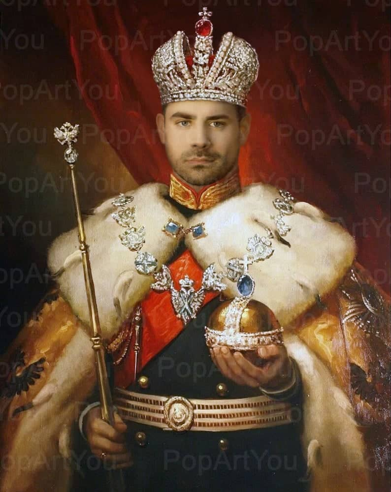 funny fathers day gift: personalized king portrait