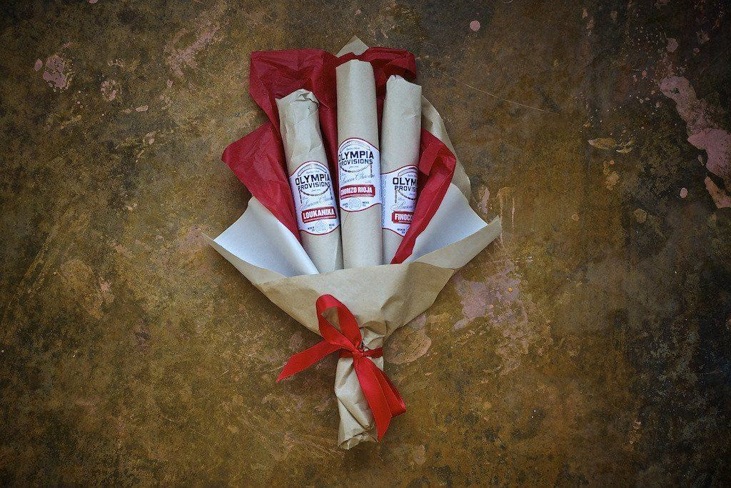funny gift for men: salami bouquet