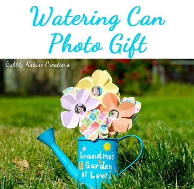 diy gifts for grandma: watering can photo gift