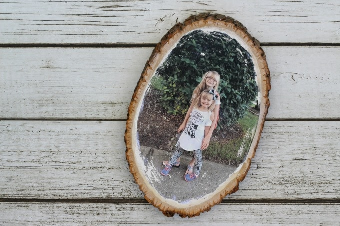 photo gifts for grandma: wood photo transfer