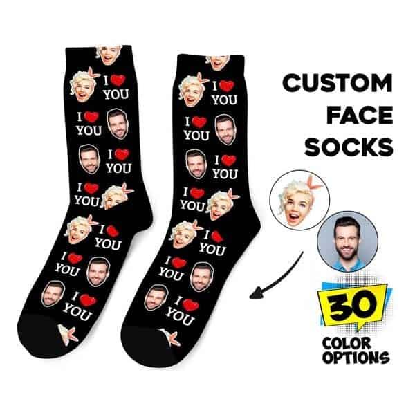 creative gifts for boyfriend: Creative Face Socks