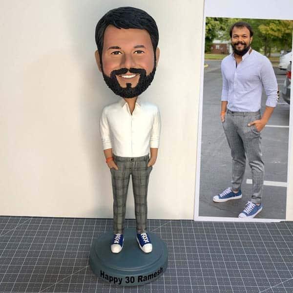 custom gifts for boyfriend: Custom Man Bobbleheads