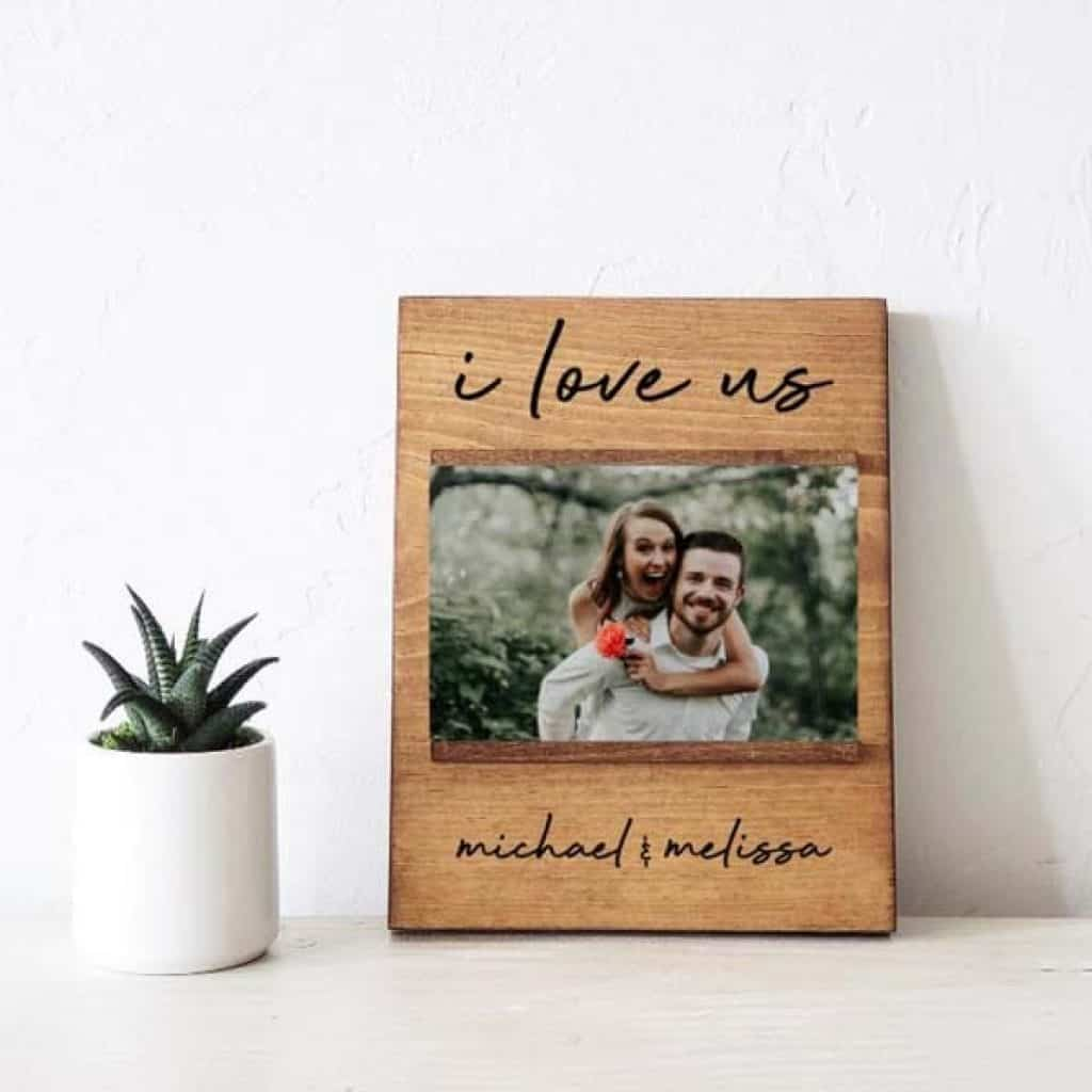 I Love Us Picture Frame