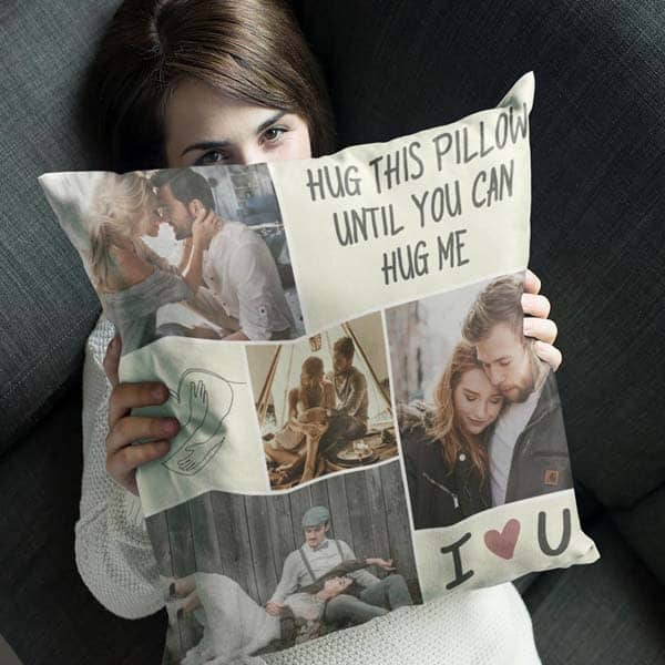 personalized love gifts for boyfriend: One Of A Kind Photo Pillow