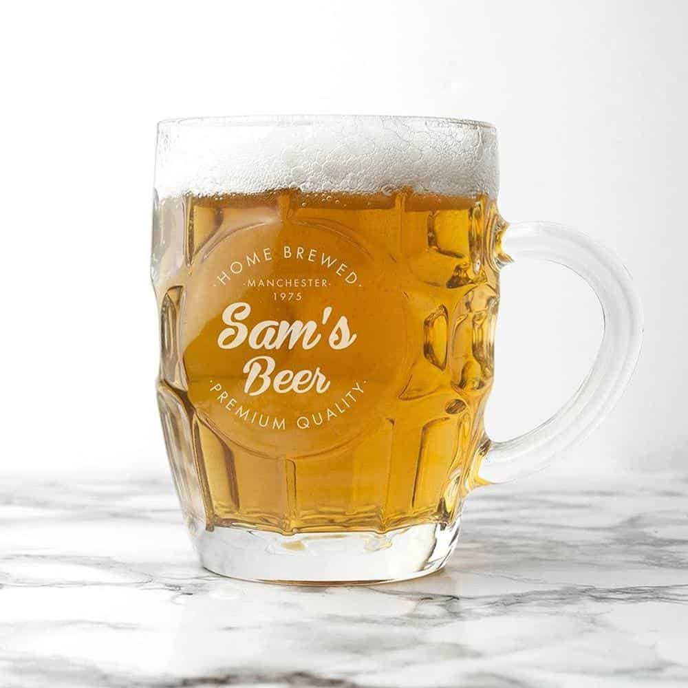 Personalized Beer Glass - Father's Day gift for husband from wife