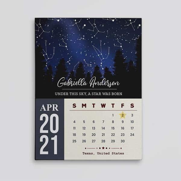 Star Map And Calendar
