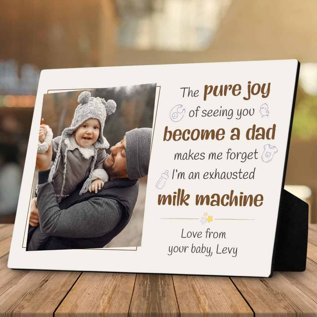 a funny fathers day gift for husband from wife - a desktop photo plaque with a quote