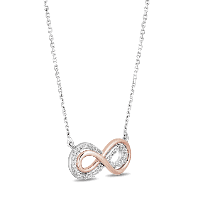 Diamonds Necklace - modern 10th anniversary gift