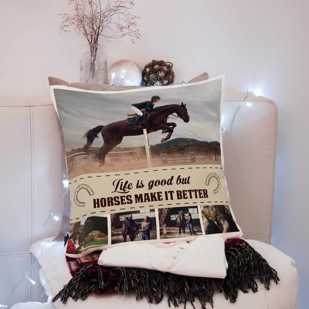 custom pillow - gifts for horse lovers