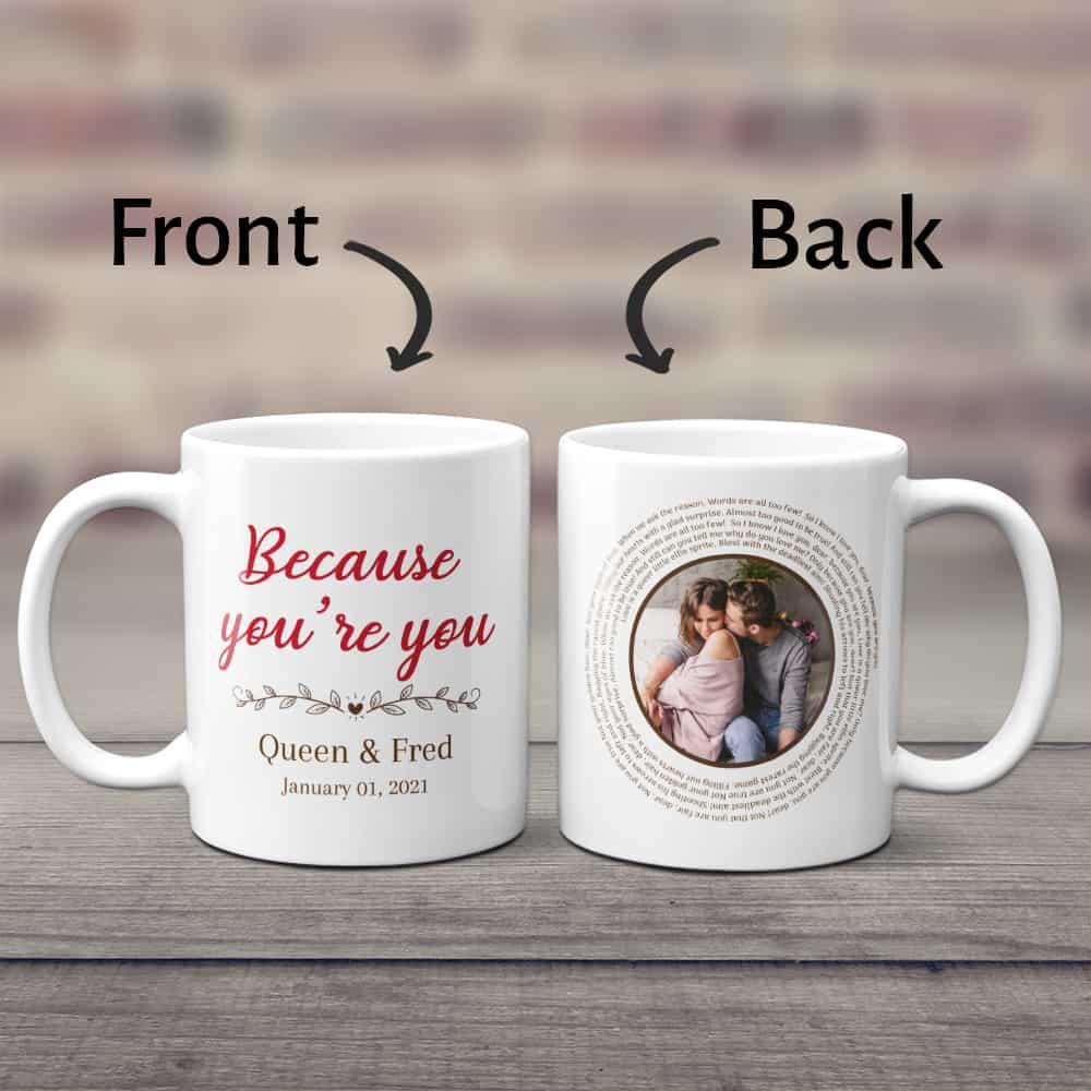 modern 2 year anniversary gift: a custom ceramic mug