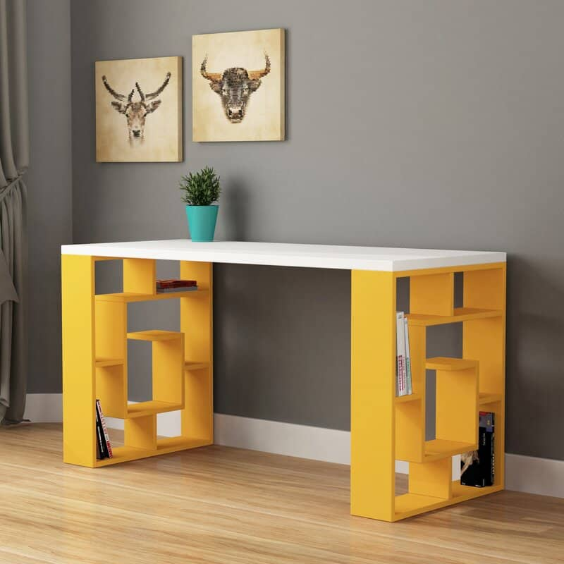 inispollan yellow desk set - modern 7 year anniversary gift