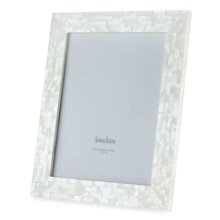 mother of the pearl frame - traditional and modern 30th wedding anniversary gift