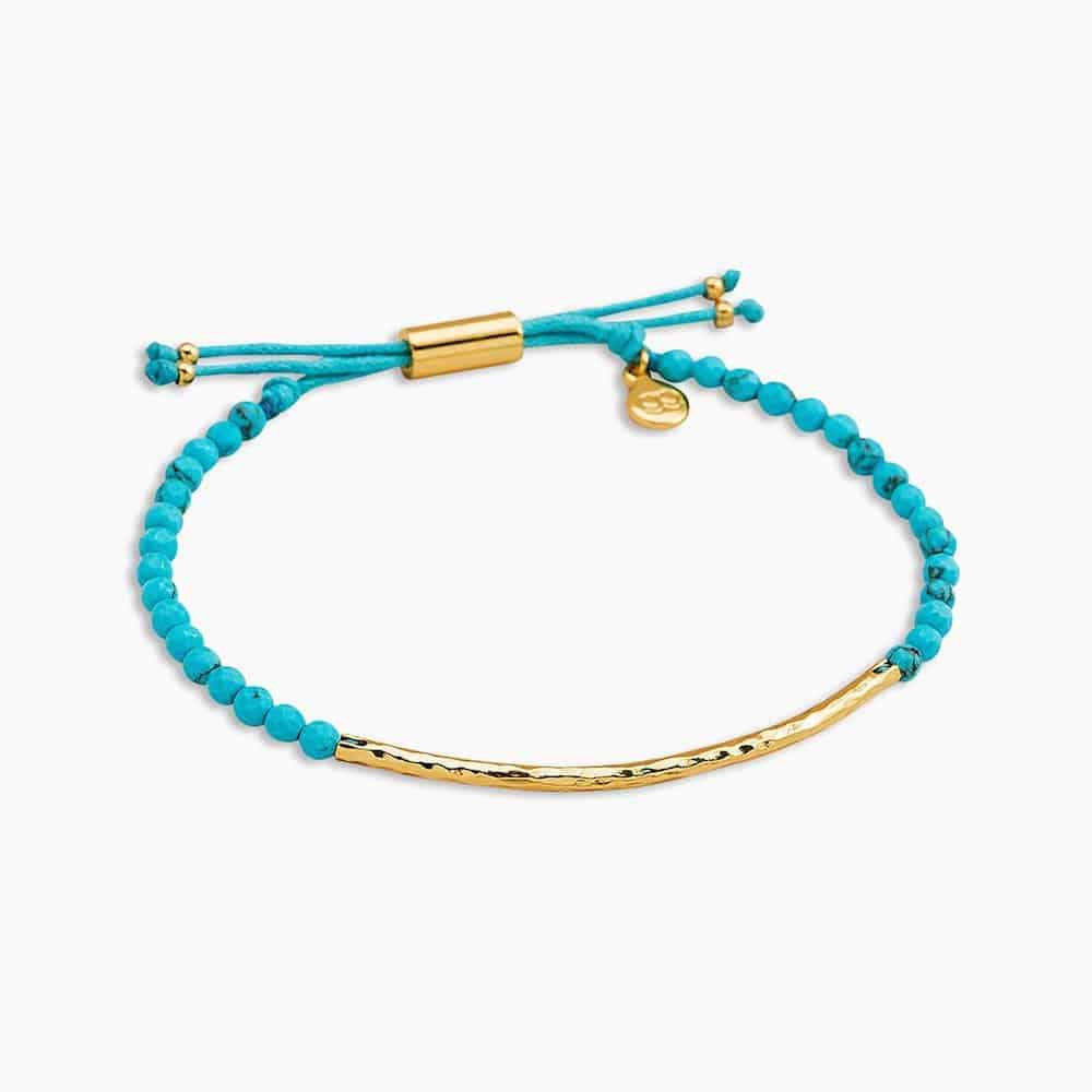 turquoise gemstone bracelet - modern 11th anniversary gift