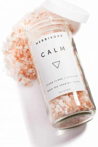 feb 14 gift idea for her: natural soaking bath salts by herbivore